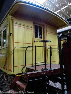I think this is a caboose or a work car, but it wasn't listed in the collection. Still, I like the door.