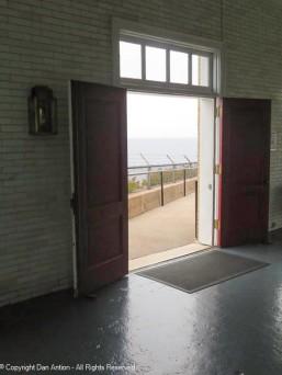 Doors to the fog horn building