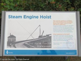 I was disappointed to find only a historic plaque at the site of the hoist