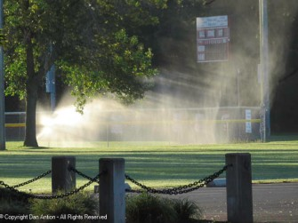 We are still seeing the sprinklers